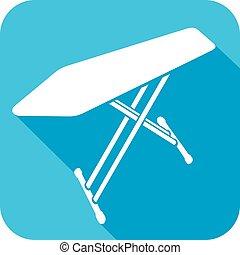 placa ironing, apartamento, ícone