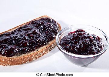placa, mermelada, bread