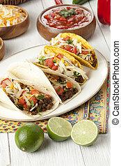placa, mexicano,  Tacos