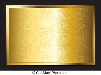 placa, oro