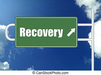 placa sinal, estrada, recuperação
