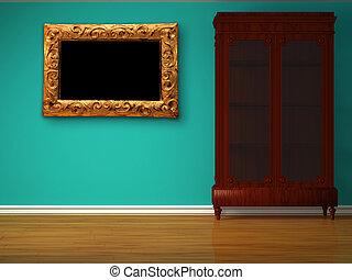 placard, dans, minimaliste, intérieur