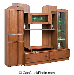 placard, doors., bois, isolé, verre, blanc