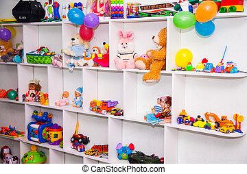 placard, jouets