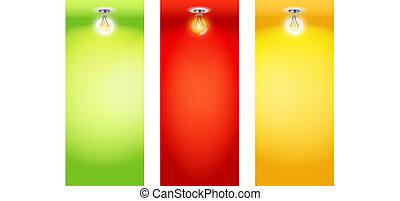 placas, coloridos