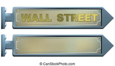 placas con los nombres de las calles