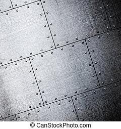 placas, metal, plano de fondo