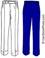 placas, moda, pantalones