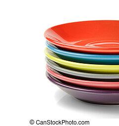 placas, pila, colorido