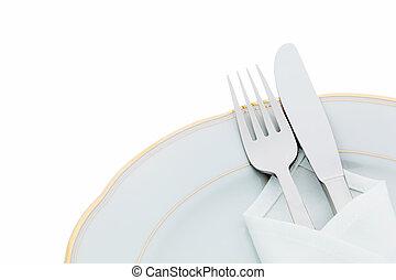 placas, tenedores, cuchillos