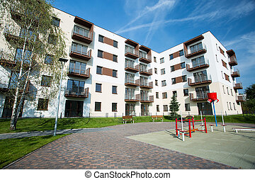 Place for children - Newly built housing development with...