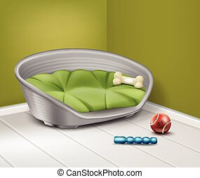 Place for dog - Vector illustration of place for dog with...