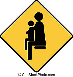 place for parents with children sign