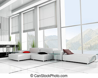place for rest - modern interior office place for rest 3d...