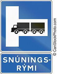 Place For Turning In Iceland - Icelandic information road...