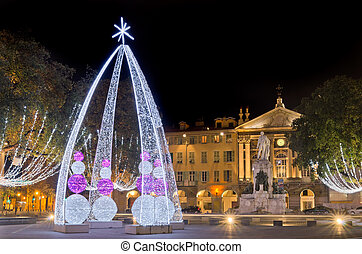 Place garibaldi, Nice, France - Christmas decoration in ...
