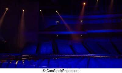 place in the concert hall and the rays of light
