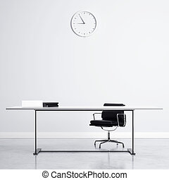 Place of work - White office interior with place of work