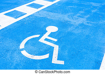 place reserved for disabled people