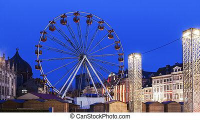 Place Saint Lambert in Liege. Liege, Wallonia, Belgium.