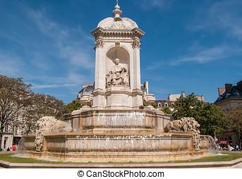 Place Saint Sulpice, fountain, Paris