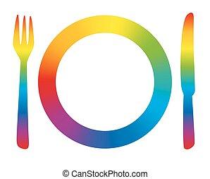 Place Setting Menu Rainbow
