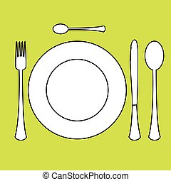 Place setting with plate