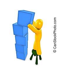 3d image, conceptual, place the box