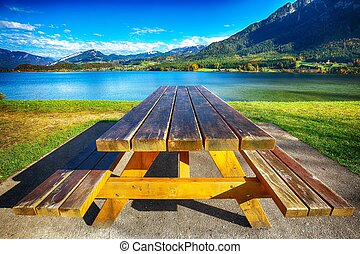 Place to relax at the lake in the mountains Around the Hallstatt Village