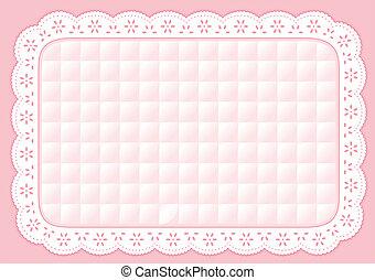 placemat, 縫被子, 彩色蜡筆, 小孔, 帶子