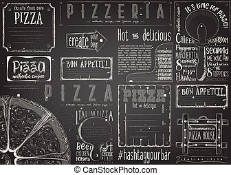 Placemat for Pizzeria - Pizzeria Placemat - Paper Napkin for...