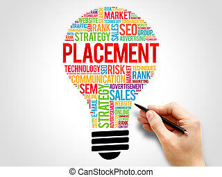 PLACEMENT bulb word cloud