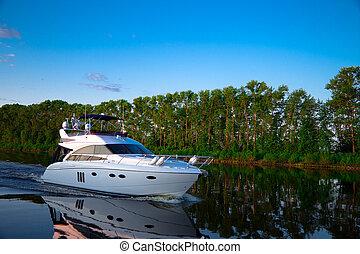 placer, bote de río, volga, flotadores