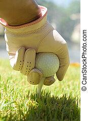 Placing golf ball