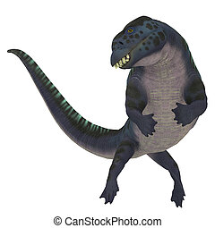 Placodus Dinosaur on White