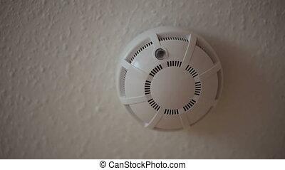 plafond, brûler, détecteur