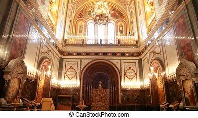 plafond, christ, murs, sauveur, typon, cathédrale