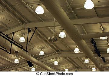 plafond, industriel