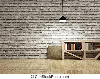 Muur, plafond lamp. Muur, lamp., plafond, render, 3d stock ...