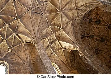 plafond, maria, santa, église