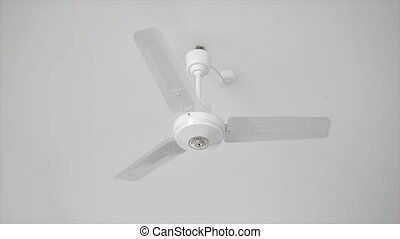 plafond, moderne, ventilateur