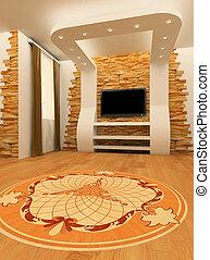 plafond, plancher, mur, laminé, construction, planche