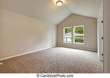 plafond, salle, couleurs, vide, doux, valted