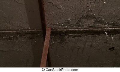 plafond, vieux, sale