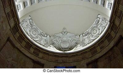 plafond, vieux, stuc