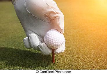 plaga, piłka, golfowy trójnik