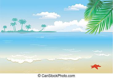 plage, été