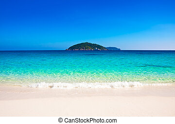 plage, îles, similan, beau