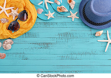 plage, accessoires, mer écale