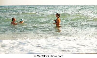 plage, amusement été